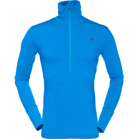 Norrøna Wool Zip Neck Shirt Herr signal blue